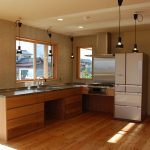 オーダーキッチン 一体天板 ナラ材 L型 5021