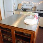 両面づかいのアイランド型作業台・食器棚・カウンター 5023