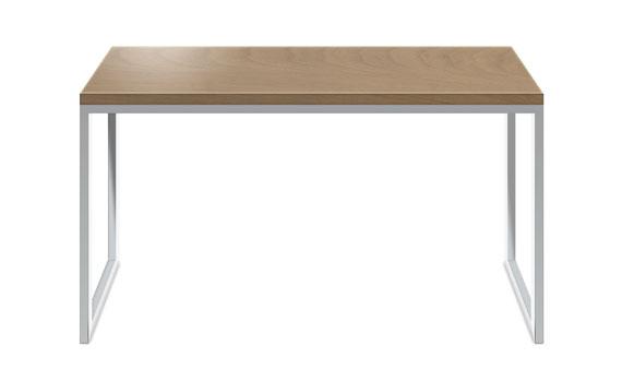 木天板のシンプルテーブル&スチール脚 3003