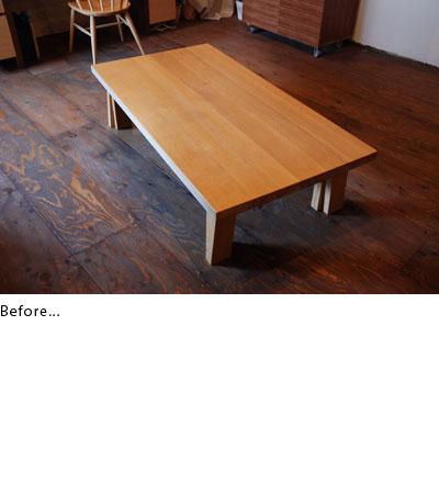 あじろ編みとガラスの拡張用テーブル c3010イメージ-2