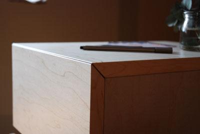 サイドチェスト メープル材とウォールナット材 5009イメージ-4