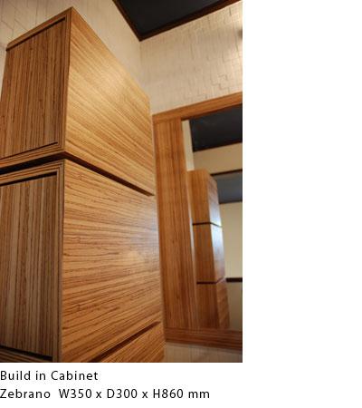 ゼブラウッドの埋込み式洗面キャビネット c5011イメージ-3