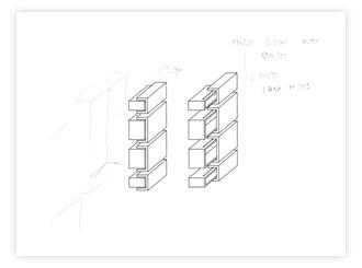 ゼブラウッドの埋込み式洗面キャビネット c5011イメージ-5