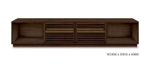 テレビボード リモコン可能&ウォールナット材 5010