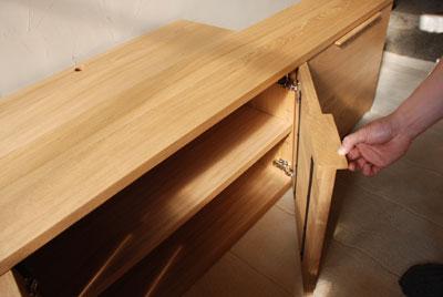 天井までのTVボードと本棚 ナラ無垢材 c5017イメージ-3