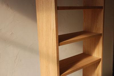 天井までのTVボードと本棚 ナラ無垢材 c5017イメージ-5