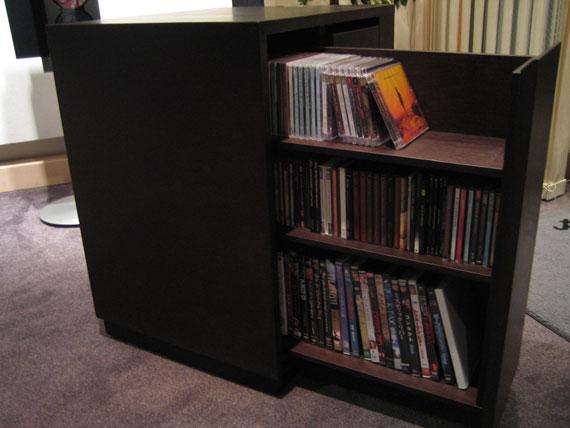 プロジェクター台 DVD収納引出&キャスター付 c7002