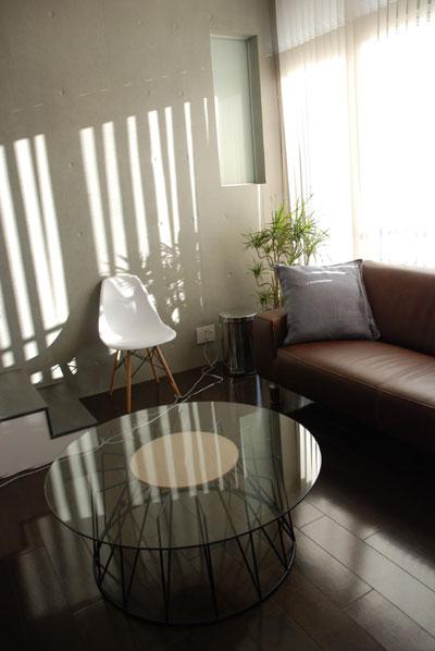ローテーブル ガラスとアイアン脚 c3021