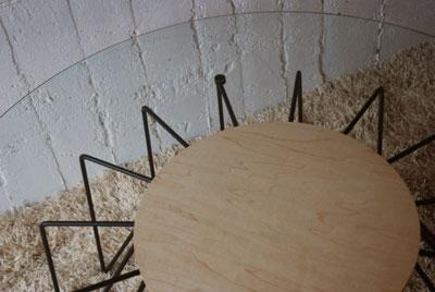 ローテーブル ガラスとアイアン脚 c3021イメージ-3