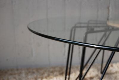 ローテーブル ガラスとアイアン脚 c3021イメージ-2