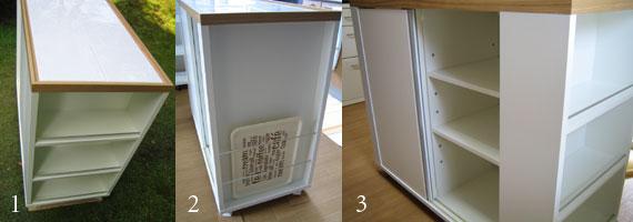 アイランドカウンター キャスター付きのタイル天板仕様 c5005イメージ-1