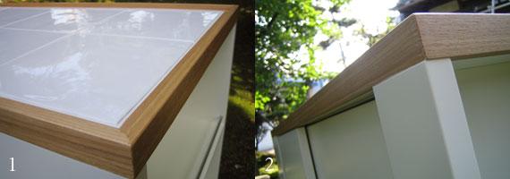 アイランドカウンター キャスター付きのタイル天板仕様 c5005イメージ-2