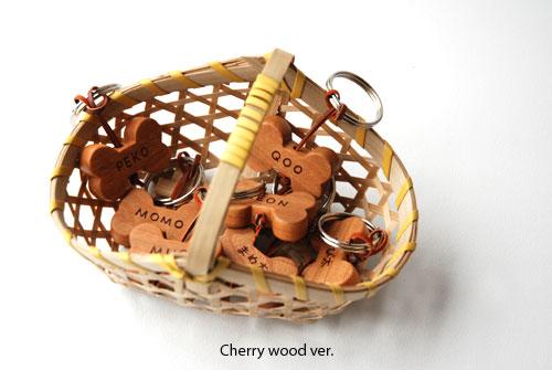 無垢の木の犬用名入れキーホルダー 8006イメージ-4