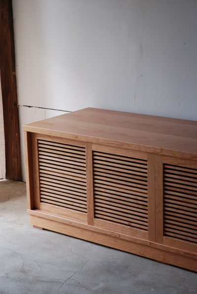 テレビボード 格子の引き違い戸 c5029