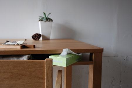 棚付きダイニングテーブル 木の脚 c3022イメージ-2