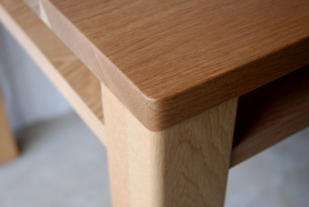 棚付きダイニングテーブル 木の脚 c3022イメージ-4