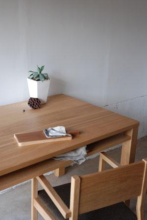 棚付きダイニングテーブル 木の脚 c3022イメージ-5