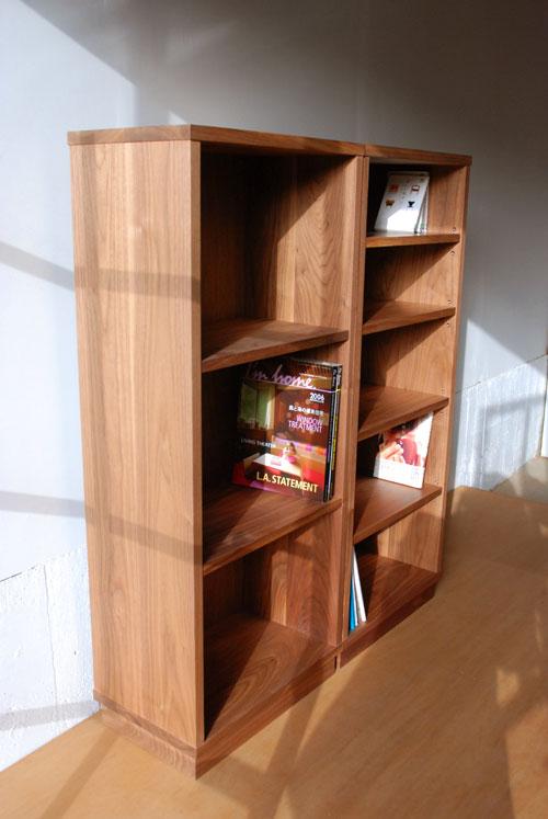 ウォールナット無垢材の本棚 固定棚と可動棚 幅50cm c5031イメージ-2