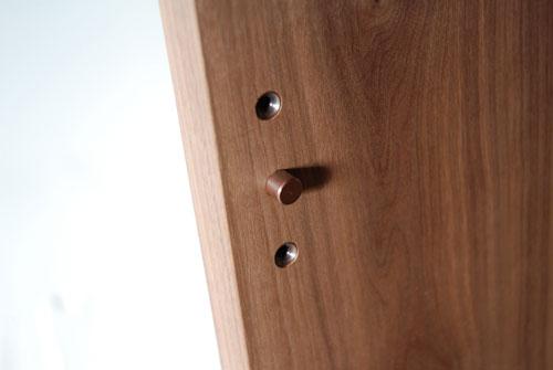 ウォールナット無垢材の本棚 固定棚と可動棚 幅50cm c5031イメージ-4