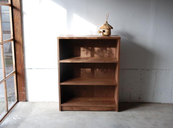 本棚 ウォールナット無垢材 幅80cmオーダーサイズ c5032