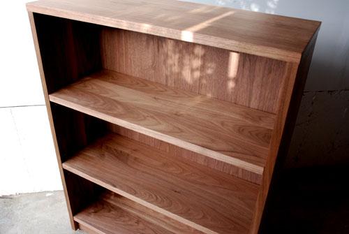 本棚 ウォールナット無垢材 幅80cmオーダーサイズ c5032イメージ-1