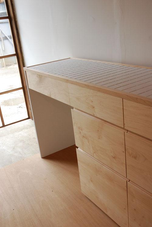 キッチンボード ハードメープル&タイル天板 c5033