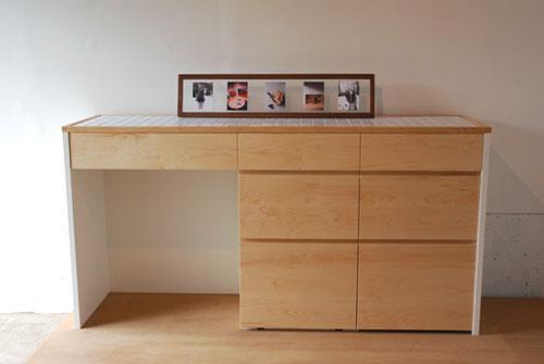 キッチンボード ハードメープル&タイル天板 c5033イメージ-3
