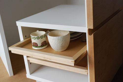 キッチンボード ハードメープル&タイル天板 c5033イメージ-8