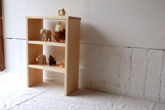 ミニシェルフ飾り棚 ハードメープル無垢材 c5034