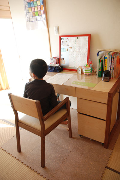 オーダーメイド学習机とマグネットボード c3017イメージ-6
