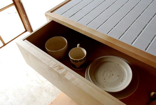 キッチンボード ハードメープル&タイル天板 c5033イメージ-5
