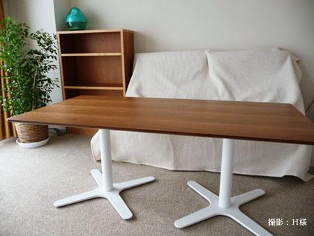 ダイニングテーブル 低座椅子の為の55cm低め c3023イメージ-5