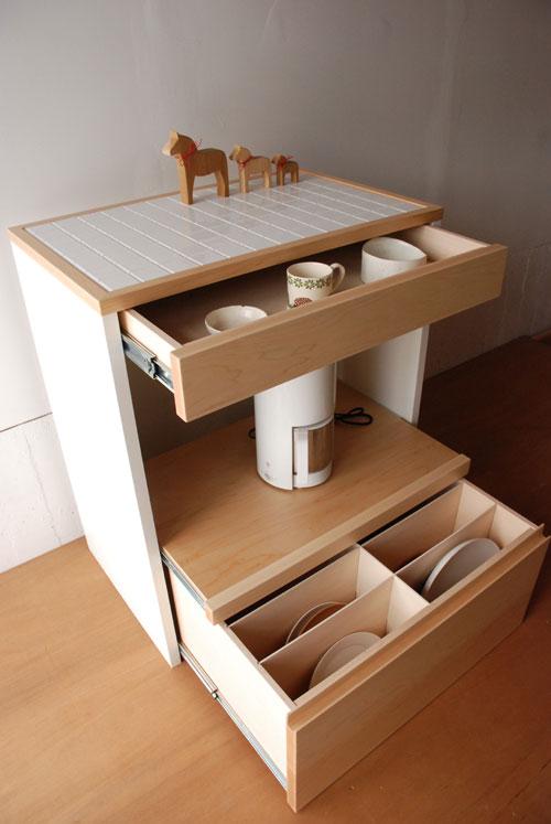 キッチンボード 仕切板でお皿を縦に収納する 幅71cm c5040イメージ-1
