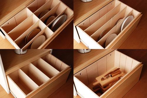 キッチンボード 仕切板でお皿を縦に収納する 幅71cm c5040イメージ-2
