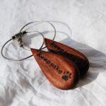 無垢の木の名入れキーホルダー しずく型 8013