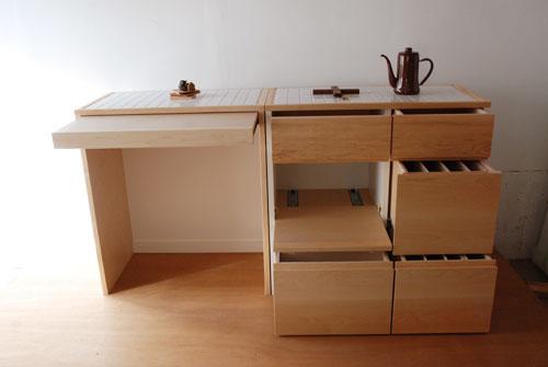 キッチンボード 2分割できるタイル天板仕様 c5044イメージ-1