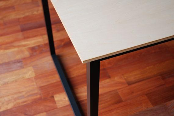 ダイニングテーブル ハードメープル&スチール脚 c3001イメージ-2