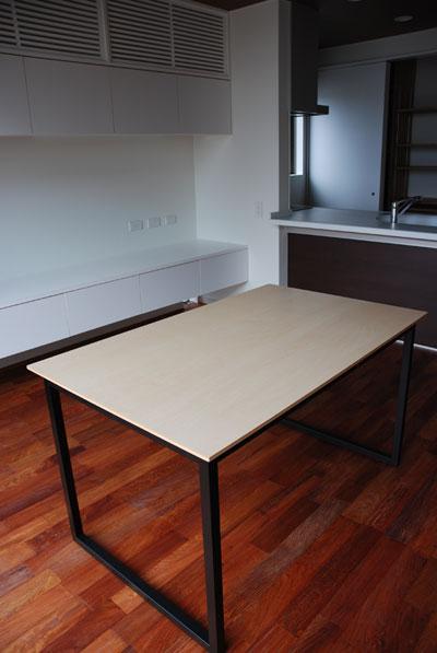 ダイニングテーブル ハードメープル&スチール脚 c3001イメージ-1