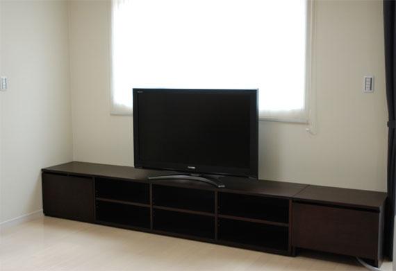 テレビボード 3メートル巾 ダークブラウン色 c5001