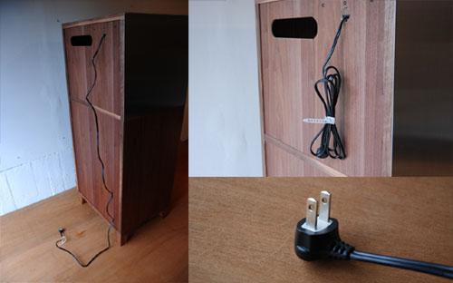 レンジ台 ウォールナットのフラップアップ収納扉&ステン貼り c5046イメージ-4