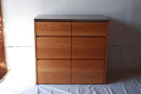 小ぶりなキッチンボード チェリー材 c5048