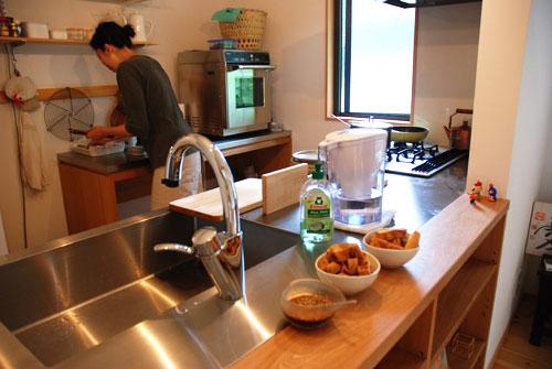 ステンレス天板の作業台 業務用オーブンが置ける c5049イメージ-3