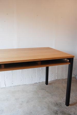 棚付きダイニングテーブル 木の脚 c3022イメージ-1