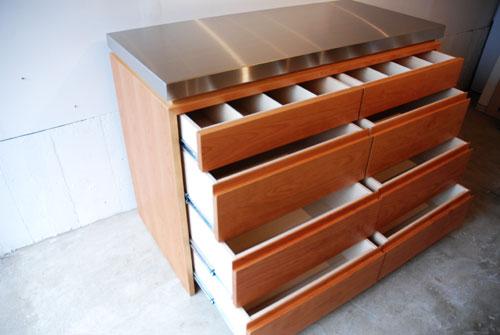 ステンレスの厚天板キッチンボード ブラックチェリー c5054イメージ-3
