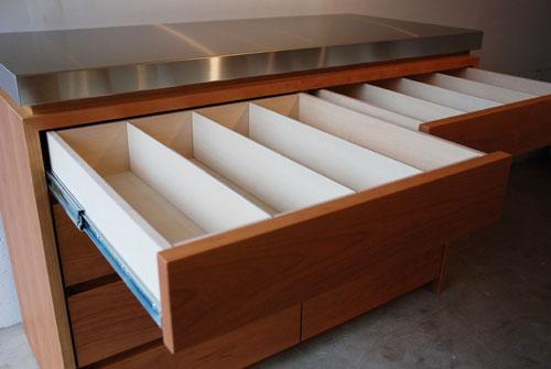 ステンレスの厚天板キッチンボード ブラックチェリー c5054イメージ-4