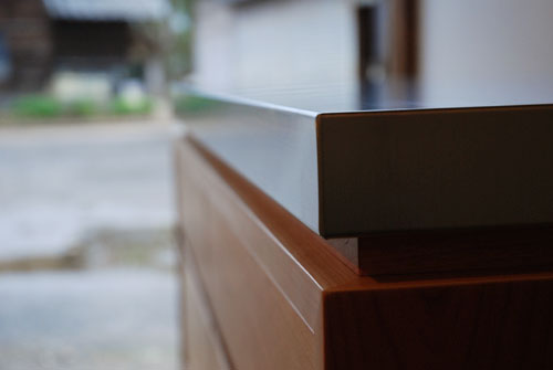 ステンレスの厚天板キッチンボード ブラックチェリー c5054イメージ-6