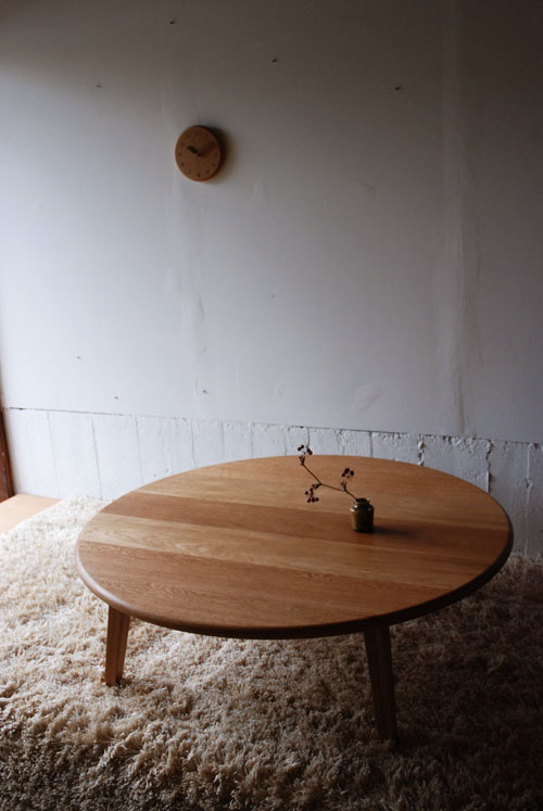 円卓 ナラ材で製作 110cm 3023