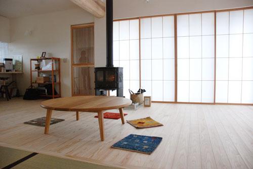 円卓 ナラ材で製作 110cm 3023イメージ-3
