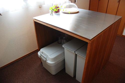 両面づかいのアイランド型作業台・食器棚・カウンター 5023イメージ-3