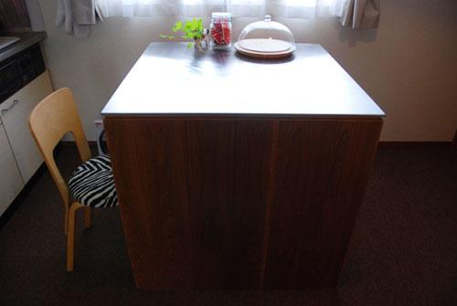 両面づかいのアイランド型作業台・食器棚・カウンター 5023イメージ-4